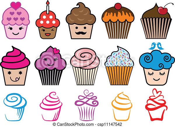 Cupcake Clipart Cute Cute Cupcake Designs Vector