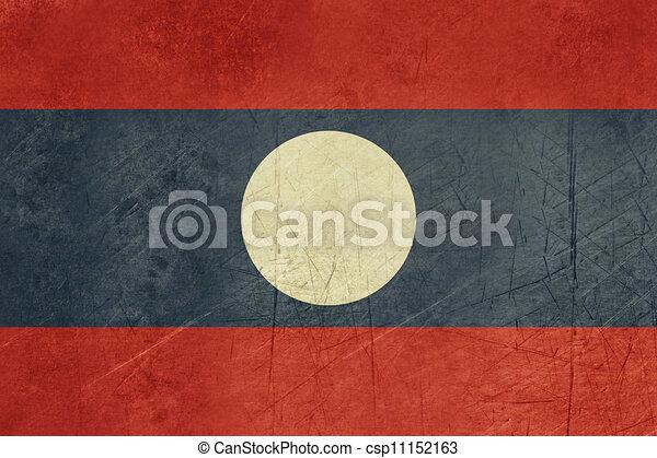 Grunge Laos Flag - csp11152163