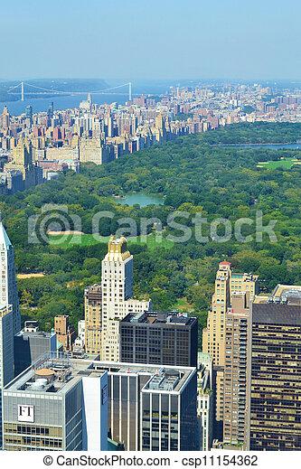 航空写真, 公園, 中央である, 光景 - csp11154362