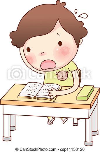 肖像画, 男の子, 勉強 - csp11158120 肖像画, 男の子, 勉強お気に入りに追加