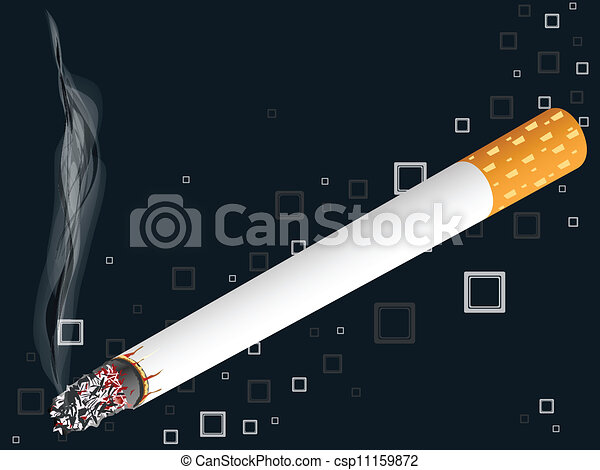 smoking cigarette - csp11159872