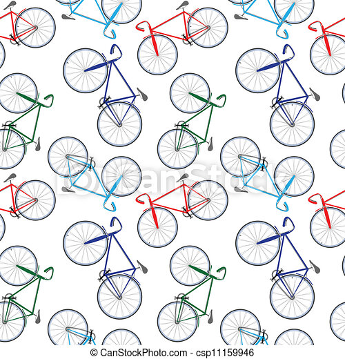 bicycles pattern - csp11159946