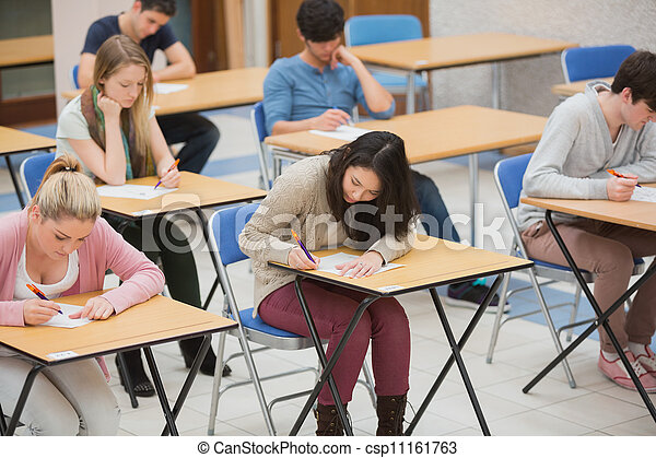 Students Writing in The Exam