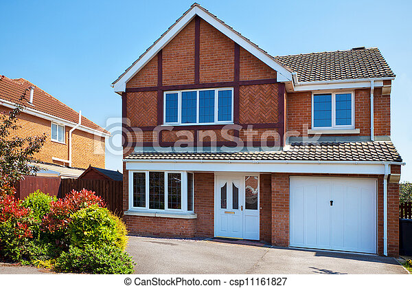 Typical english residential estate - csp11161827