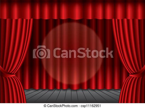 vecteur ferm 233 rouges th 233 226 tre rideau projecteur centre eps10 banque d illustrations