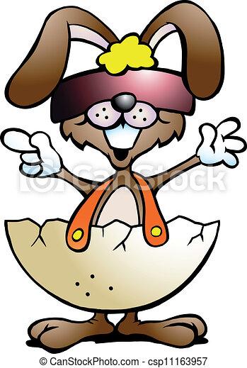 rabbit with cool sunglass  - csp11163957