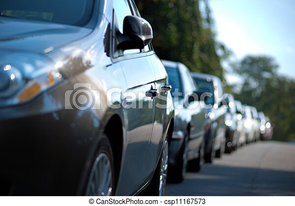 row of parked cars - csp11167573