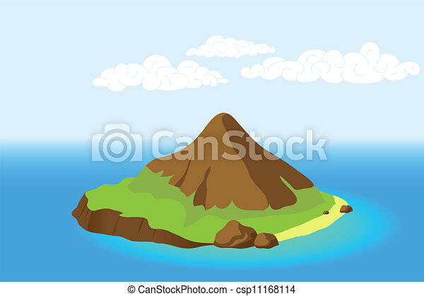 Island with mountain - csp11168114