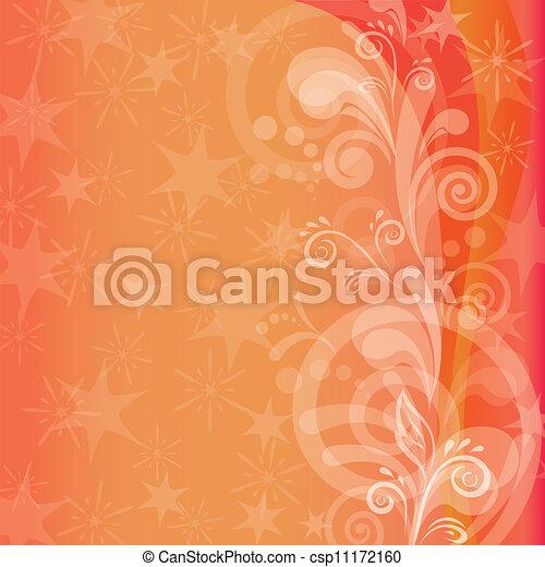 Orange holiday background - csp11172160