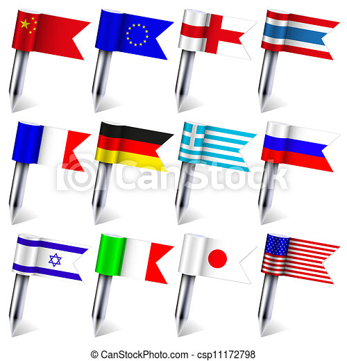 Vector. the flags of the world isolated on white background. Eps10 - csp11172798