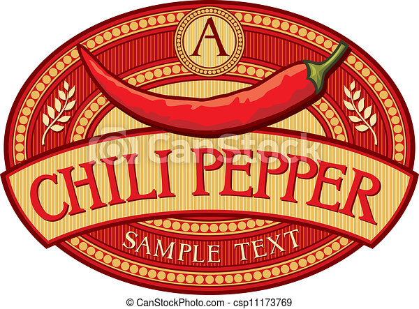 chili pepper label (chili pepper symbol) csp11173769 - Search Clipart ...