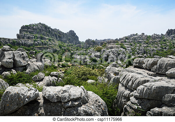 Spring view of El Torcal nature reserve - csp11175966
