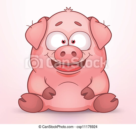 Illustration vecteur de cochon cute cartoon pig csp11176924 recherchez des images - Image de cochon mignon ...