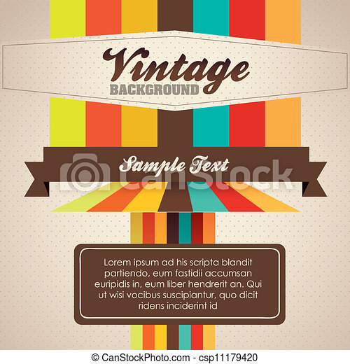Illustration of Vintage Poster Art  - csp11179420
