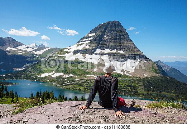 Hike in Glacier Park - csp11180888