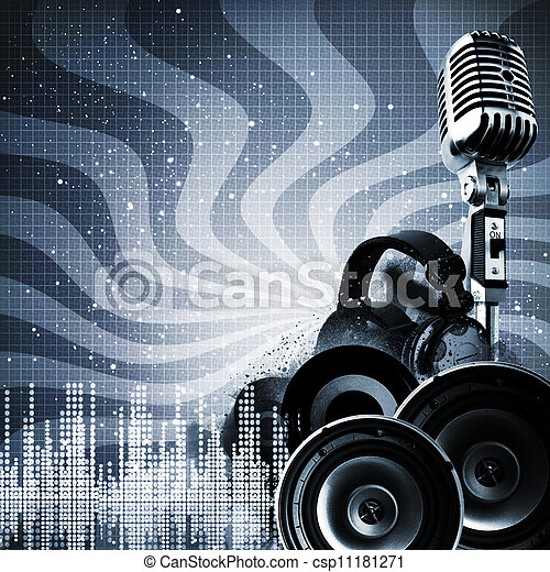 Abstract DJ backgrounds with copy-space for your design - csp11181271