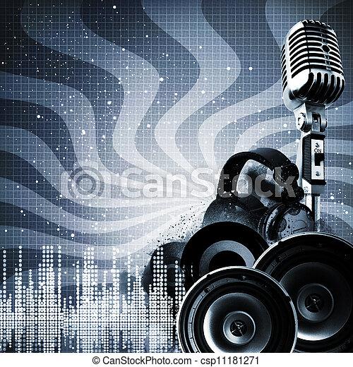 DJ, Estratto, Sfondi, disegno,  copy-space, tuo - csp11181271