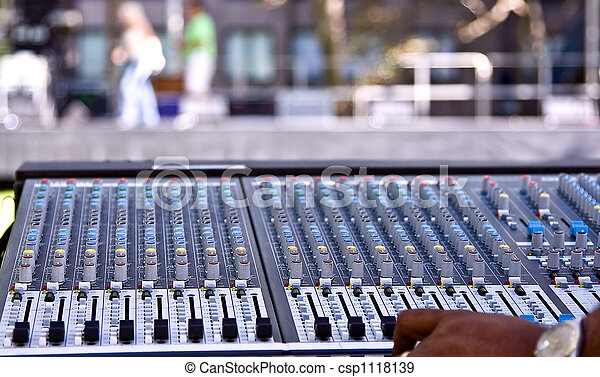 Mixing panel at a concert - csp1118139
