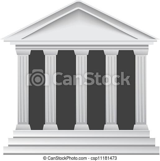 Columns ancient greek historic bank - csp11181473