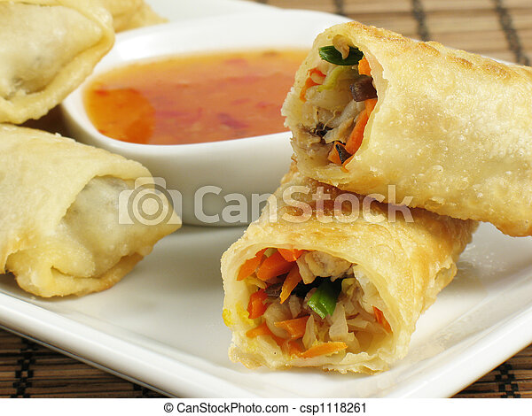 Tasty Egg Rolls - csp1118261