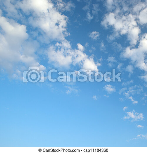 light clouds in the blue sky - csp11184368