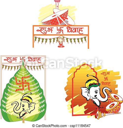 Shubh Vivah, illustration - csp11184547