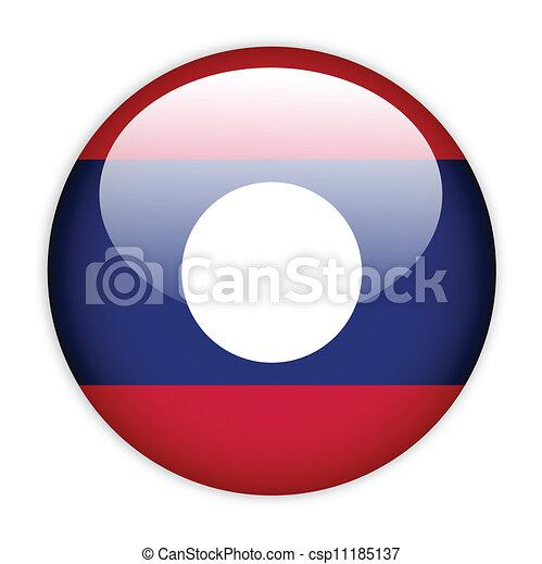Laos flag button - csp11185137