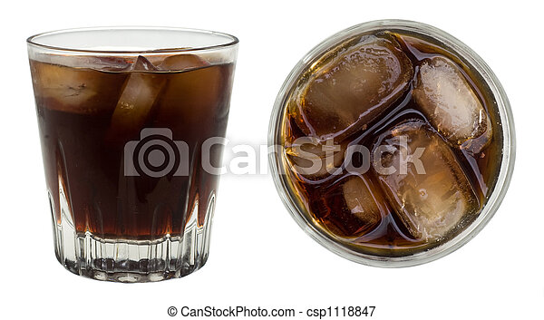 Picture of rum and coke a rum and coke from two angles for White rum with coke