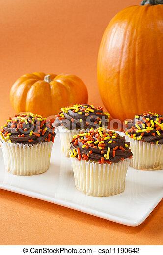 Festive Fall Cupcakes - csp11190642