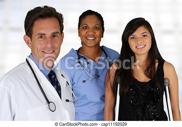 Doctor with Nurse and Patient - csp11192029
