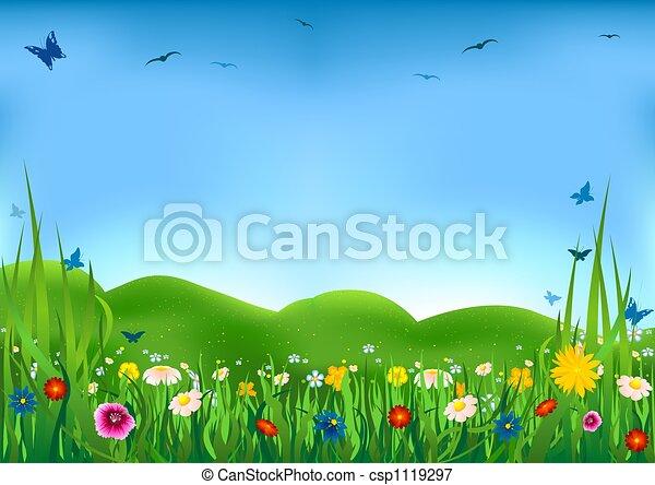Flowering Meadow - csp1119297