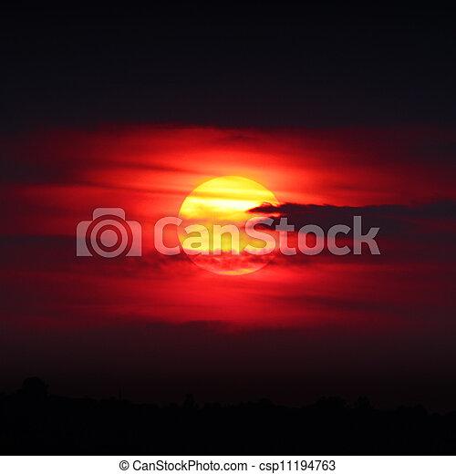 Sunset sun - csp11194763