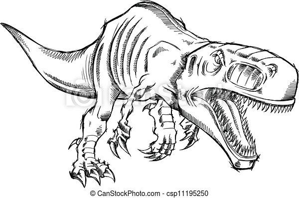 comment dessiner un t rex