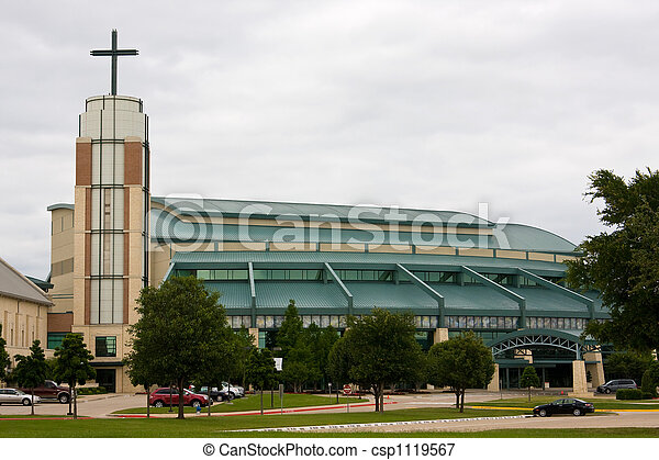 Modern Suburban Church - csp1119567