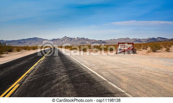 Death valley national park highway entrance - csp11198138