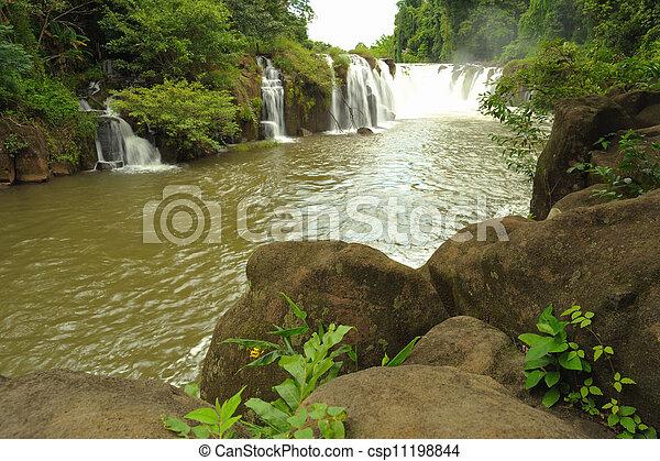 Tad Pha Souam waterfall, Laos. - csp11198844