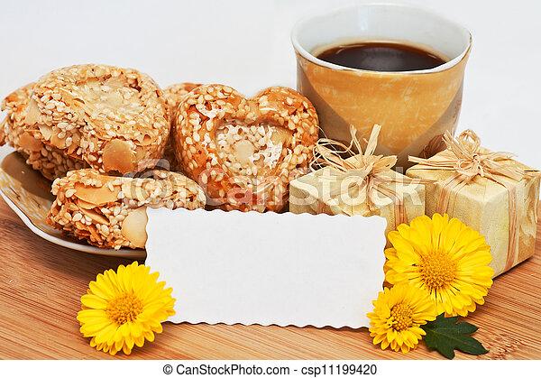 morning holiday coffee - csp11199420