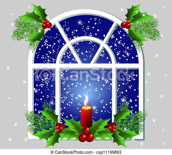Christmas Window Candle Lights
