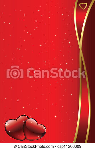 Valentine's day vector background w - csp11200009