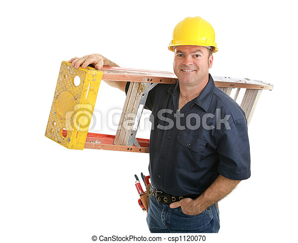Construction Worker with Ladder - csp1120070