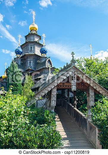 Wooden Russian church - csp11200819