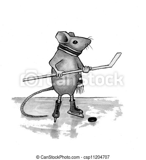 Mouse Pencil Drawing Pencil Drawing Mouse Hockey