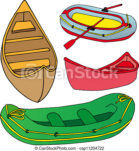 Vector Illustration of Boats and ships collection - vector ...