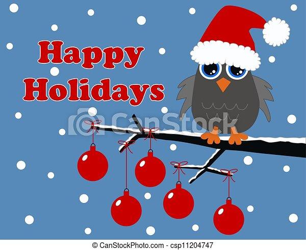 merry christmas happy holidays - csp11204747