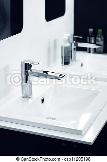 Modern bathroom detail - csp11205198