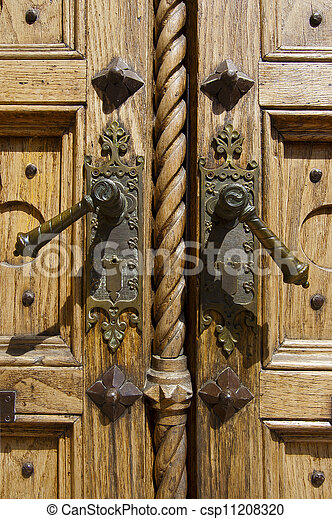 Detail of Old Wooden Door - csp11208320