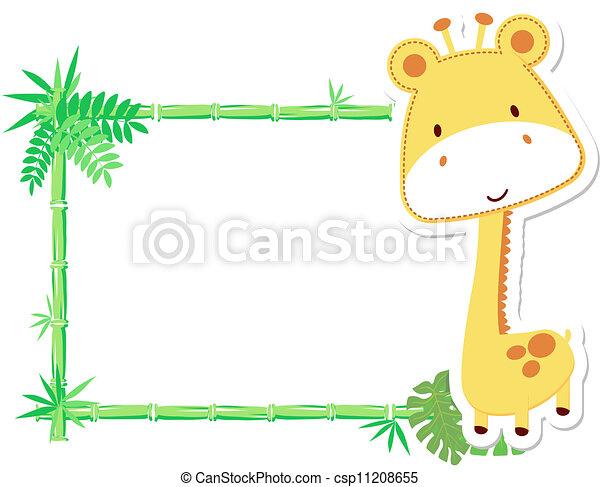 clipart vector of cute baby giraffe frame vector Snow Leopard Clip Art Snow Leopard Clip Art