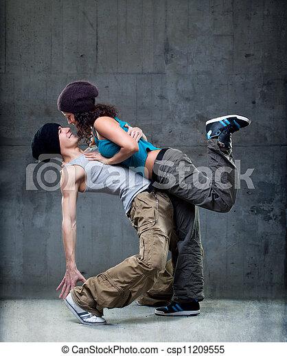 pasión, baile, pareja - csp11209555