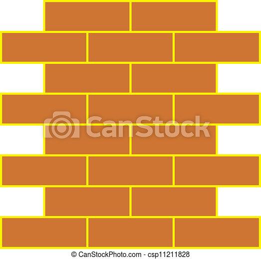Vector illustration of brick wall - csp11211828