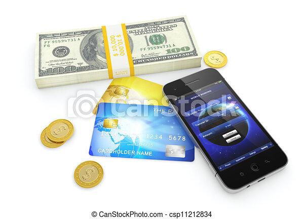 Mobile banking - csp11212834